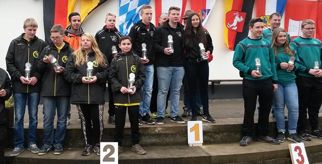 Sieger des Jugend-Ländermasters 2015: 1. Saarland, 2. Baden-Württemberg, 3. Rheinland-Pfalz