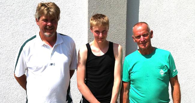 Die Vereinsmeister 2015 im Tête-à-tête v.l.n.r.: Jochen Kauffmann (2. Platz), Maximilian Lang (1. Platz), Oliver West (3. Platz)