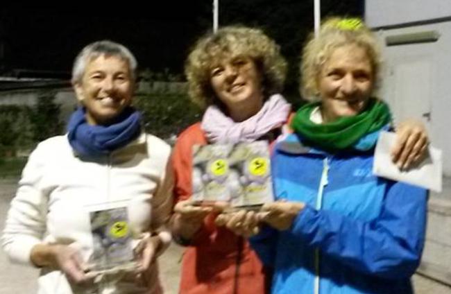 Vizemeister der LM Triplette Damen 2015: v.l.n.r. Brigitte Knapp (Neuffen), Katrin Schwinger (Denkendorf) und Gudula Hammer (Backnang)