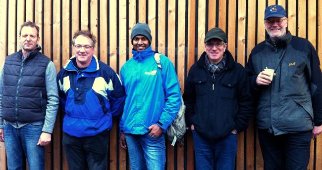 Die Tagessieger v.l.n.r.: Thomas Brinkmann(1.), Joachim Engisch (2.), Vallipuram Rajakumar (3.), Rudi Meier (4.), Peter Vieweg (5.)