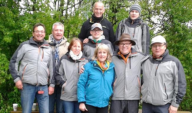 Das Team Denkendorf-1: Perry Bruchelt, Michael Deuschle, Christine Nording, Renate Kleinknecht, Phillip Bruchelt, Oliver West, Christian Lang, Timo Arbeiter, Steffen Heß.